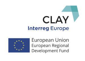 Interreg Europe -ohjelmasta rahoitetun CLAY-hankkeen logo.