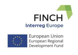 Interreg Europe -ohjelmasta rahoitetun FINCH-hankkeen logo.
