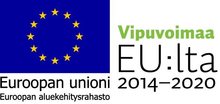 Vipuvoimaa EU:lta, Euroopan aluekehitysrahasto 2014-2020 -logo.