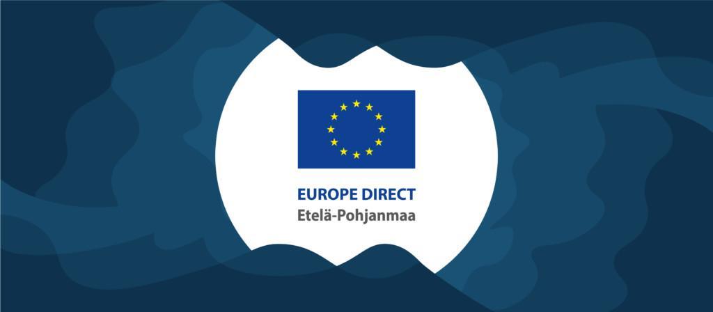 Bannerikuva, jossa keskellä EU-tietokeskuksen logo ja ympärillä sinistä aaltografiikkaa.