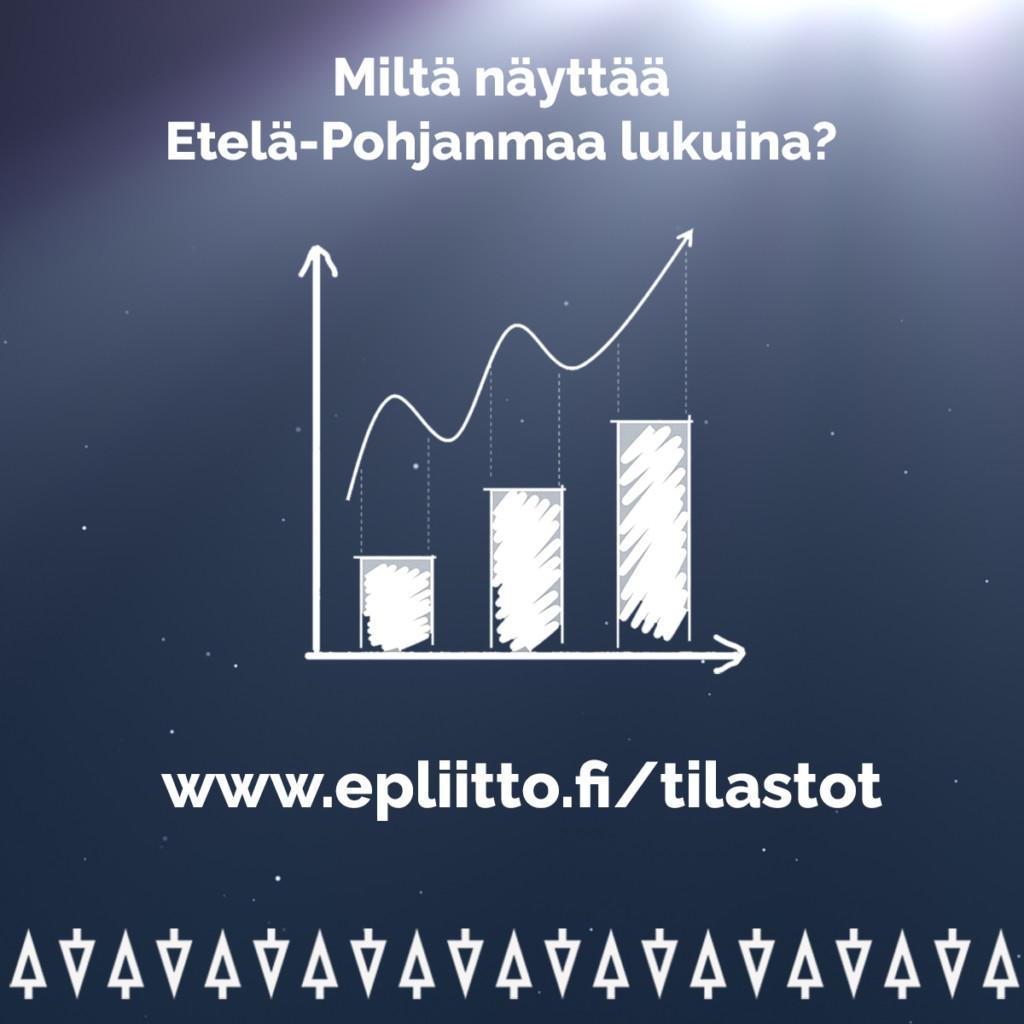 Tilastosivujen banneri. Miltä näyttää Etelä-Pohjanmaa lukuina? www.epliitto.fi/tiilastot.