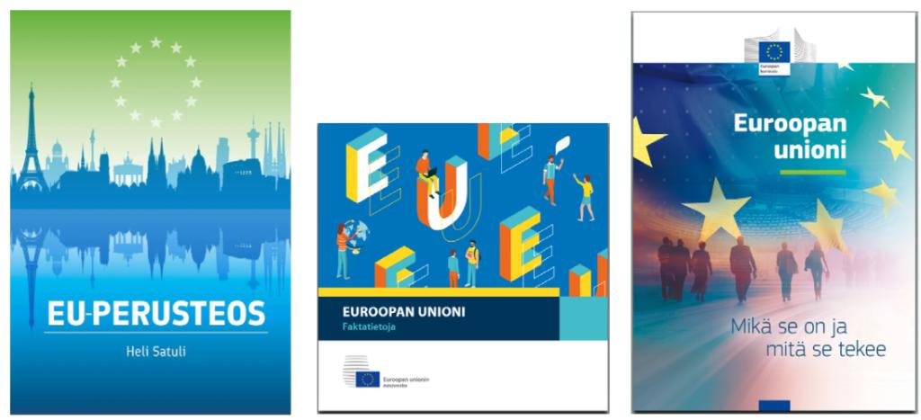 Kuvia EU-julkaisujen kansista