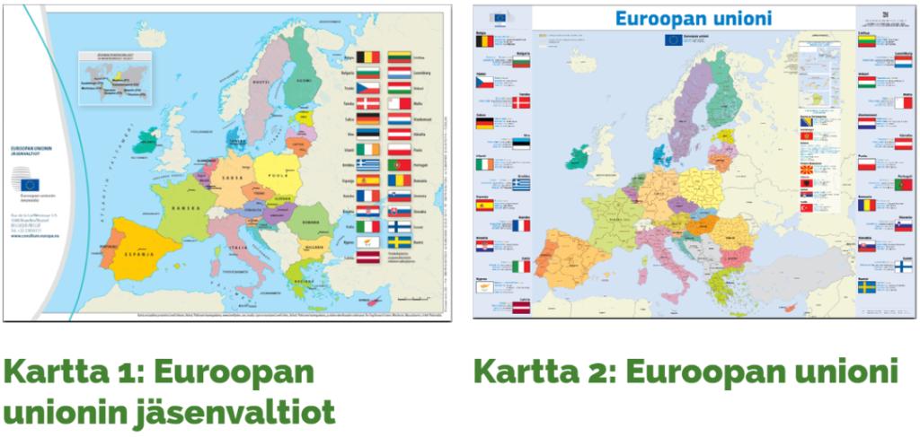 Kuvia EU-kartoista