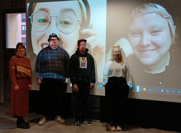 VNT-kilpailun finalistit Kalevan Navetassa.